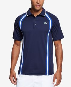 5048decc2c8ef Lacoste Men s Performance Side-Striped Tennis Polo Men - T-Shirts - Macy s