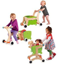 1-2-3 Grow With Me Wooden Walker / Ride-on Toy / Tricycle on www.amightygirl.com
