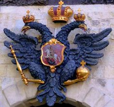The Russian double-headed eagle, seen at the Peter and Paul Fortress in St. Petersburg
