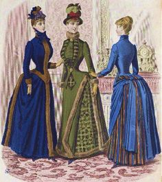 I love the blue dress with the stripe under skirt.