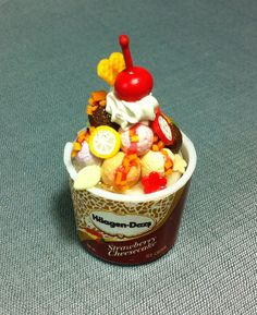 Hey, I found this really awesome Etsy listing at https://www.etsy.com/listing/169992863/ice-cream-cup-miniature-clay-polymer