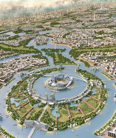 Rashid Gardens, Dubai - marita home Green Architecture, Futuristic Architecture, Sustainable Architecture, Amazing Architecture, Landscape Architecture, Landscape Design, Architecture Design, Fantasy City, Fantasy Places
