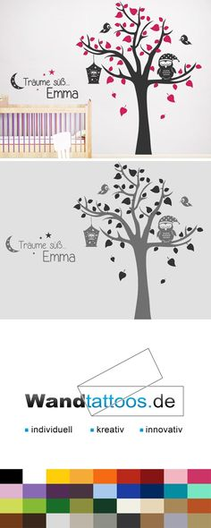Wall decal dream tree with desired name - baby room ideas - babyzimmer Wall Stickers, Wall Decals, Diy Wand, Baby Zimmer, Wall Tattoo, Design Blog, Baby Care, Wall Design, Baby Room