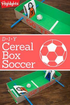 Football crafts or soccer crafts soccer crafts football crafts cereal box soccer solutioingenieria Images