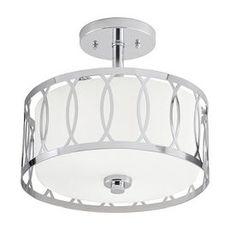 Kichler Lighting 12.24-in W Chrome Frosted Glass Semi-Flush Mount Light