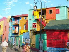La Boca is the oldest, most colorful, and most authentic neighborhood in Buenos Aires. The neighborhood was settled and built by Italian immigrants that worked in the warehouses and meatpacking plants in the area. La Boca is partly an artist colony, and mostly a working-class neighborhood. (Tour/La Boca/Buenos Aires)
