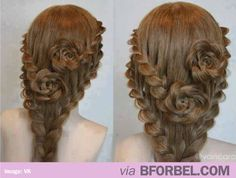 Rose Braids… Perfect For A Wedding.