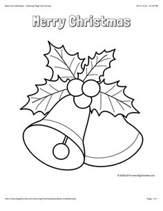 Free Coloring Pages Christmas Bells - Coloring - Coloring Home Pages Christmas Bells Drawing, Christmas Rock, Christmas Paintings, Christmas Colors, Christmas Decorations, Christmas Ornaments, Merry Christmas, Christmas Templates, Christmas Printables