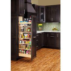 Rev-A-Shelf 8-In W X 59.31-In H Wood 1-Tier Cabinet Pantry 448-Tp51-8-