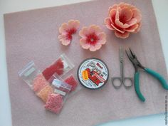 Flower tutorial (Translate) #Seed #Bead #Tutorials