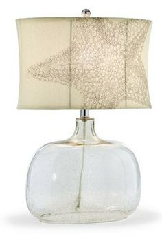Turn it on and watch the sparkling texture and pattern come to life with our Starfish Lamp.