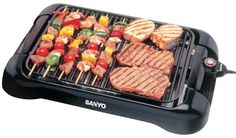 Amazon.com: Sanyo HPS-SG3 200-Square-Inch Electric Indoor Barbeque Grill, Black: Kitchen & Dining