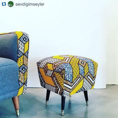 Make a statement with bold and bright African wax print.