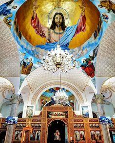 Saint Bishoy church - Al Esmailia Egypt Place Of Worship, Religious Art, All Pictures, Altar, Jesus Christ, Christianity, Egypt, Catholic, Taj Mahal