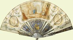 Painted paper fan, 1750. Royal Collection Trust
