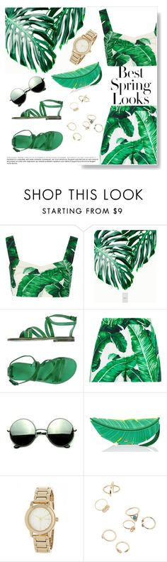 """""""The Green One (Part 3)"""" by sallyqueen ❤ liked on Polyvore featuring Dolce&Gabbana, L'Artigiano del Cuoio, Revo, Kate Spade, DKNY and H&M"""