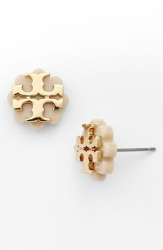 Tory Burch Logo Flower Stud Earrings available at #Nordstrom