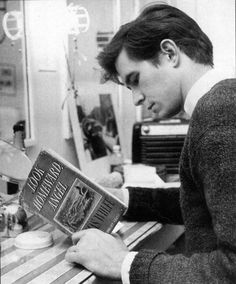 Anthony Perkins, 1950s. He starred in Look Homeward, Angel on Broadway.