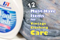 How to Care for Clothing Tips: http://sammydvintage.com/vintage-style/clothing-care-supplies/