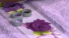 Mulher.com 11/07/2014 - Pintura Rosa Toalha de Rosto por Ana Laura Rodri...