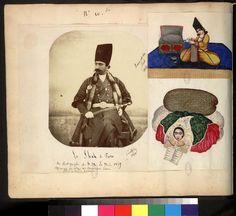 Frances Carlhian | Album de Perse (1585-1861) : Le Shah de Perse en 1860, deux miniatures persanes | Images d'Art