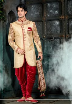 Flaunt your charismatic looks on your special day with the best designer sherwani!! Check out our latest wedding collection at our online store #NihalFashions