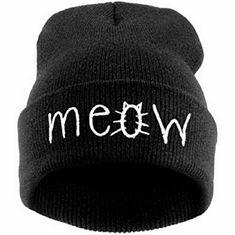 7220cbd53e1752 Fashion MEOW Cap Unisex Beanie Cap,winter knitted man & women Beanie Hat  Warm Winter Hat for Women