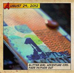Glitter Girl Adventure 035: Fade In/Fade Out - Two Peas in a Bucket Video tutorial 24:17 mins This week Glitter Girl takes on the faded monochromatic trend of ombre, inspired by this message board thread [twopeasinabucket.com]. Her adventure takes her through options for creating ombre patterned paper and embellishments, then to completing a page with some of those supplies.