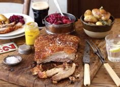 Still a relatively cheap cut, pork belly yields beautiful soft flesh and crisp crackling when slow-roasted, from BBC Good Food magazine. Roast Pork Belly Slices, Slow Roast Pork, Bbc Good Food Recipes, Cooking Recipes, Yummy Food, Braised Red Cabbage, Pork Belly Recipes, Pork Dishes, Food Inspiration