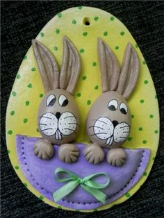 Clay Crafts, Diy And Crafts, Crafts For Kids, Arts And Crafts, Salt Dough Crafts, Ceramic Pottery, Easter Eggs, Jewelry Art, Biscuit