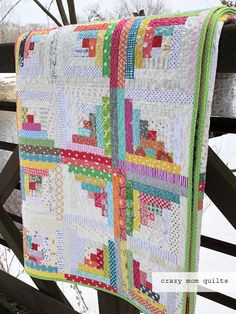 Welcome to finish it up Friday! Today I am THRILLED to share with you my completed log cabin quilt! I started this quilt back in May of...