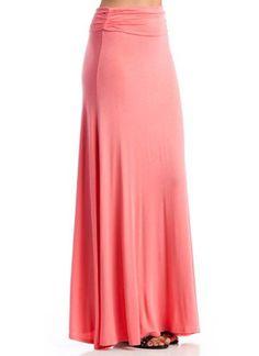 Amazon.com: Folded Maxi Skirt: Clothing