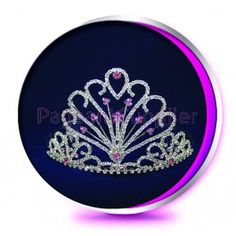 The Pink Alyssa - Pageant Crown or Wedding Princess Tiara (Homecoming, Prom, Bridesmaid, Birthdays, Bachlorette, etc)