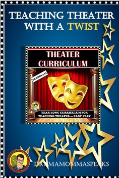 Here's my 300 page theater curriculum for you Everything you'd need for more than a year of engaging and unique teaching. Trust me: I taught 38 years. Drama Teacher, Drama Class, Drama Drama, Drama Activities, Drama Games, Teaching Channel, Teaching Resources, Teaching Art, Middle School Drama