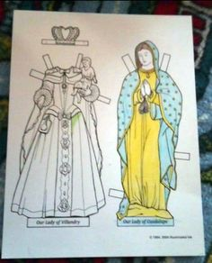 Our Catholic Homeschool review of @illuminatedink Blessed Mother paper dolls