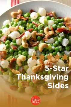 5-Star Thanksgiving Sides Thanksgiving Sides, Thanksgiving Recipes, Holiday Recipes, Creamed Peas, Candied Sweet Potatoes, Beet Recipes, Baked Pork Chops, Holiday Side Dishes, Green Bean Casserole