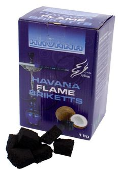The Havanna Flame Briquettes are ecological and our recommendation. It has a long burning time.