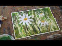▶ Acrylmalerei. Techniken Absprengtechnik -Acrylic painting - YouTube