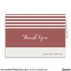 Wedding Thank You Pale Blue  Black Personalized Card  Wedding