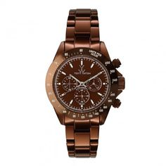 Unisex Brown Metallic Chronograph Watch - ToyWatch - Private sales | BrandAlley