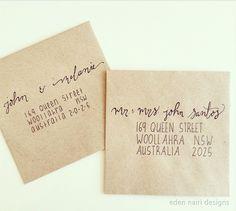 Addressing Envelopes Modern Calligraphy Wedding Calligraphy