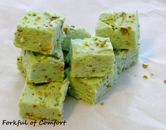 Forkful of Comfort: Pistachio Fudge