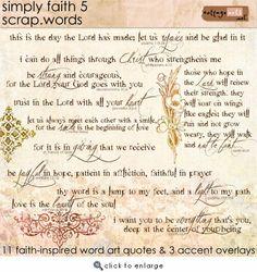 Simply Faith 5 Scrap.Words