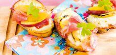 Crostini mit Schinken und Pfirsich