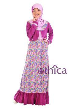 Baju Overall Cardigan Ethica Anak OSK 41 Ungu Size 8