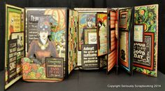 Mini Album - Graphic45: Typography, Steampunk Spells lady - by Jane Treganza; 2014 DT Audition