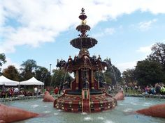 Back to 2014 FOUNTAIN GARDENS OPEN DAY VIDEO Fountain Gardens Open Day Video Saturday was a great day for Paisley when 1,500 people flocked to Fountain Gardens to see the newly restored Grand Fountain flowing again. The Fountain, which was bequeathed to the townspeople by the Coats Family in 1868, is one of the world's finest examples of cast iron sculpture. Its unique design is a Victorian extravaganza that includes walruses, cherubs, dolphins, herons and crocodiles