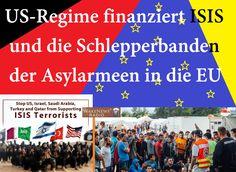 US-Regime finanziert ISIS und die Schlepperbanden der Asylarmeen in die EU