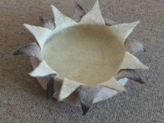 Cat Bed Cat Cave Small size Bowl Lotus Shaped Pure Wool from South Island New Zealand choose the size and colour