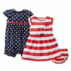 3b98cccca Carter's Striped Dress and Polka Dot Romper Set - Baby Everything Baby,  Toddler Outfits,